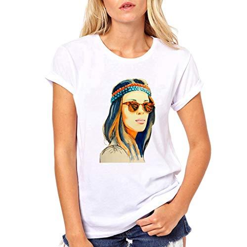 men Kurzarm Tee Tops Frauen Rundhals Cartoon Mädchen Drucken Shortsleeve t-Shirt Blusen Casual Elegant Oberteil Mode Persönlichkeit T-Shirt Outdoor Slim Fit Fitness Tuniken S-XL ()