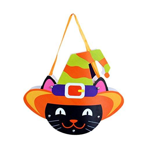 Transer® Nettes DIY Papier der Halloween-Süßigkeits-Zuckerbeutel, Halloween-Kind-Partei-Dekoration, schließen 3 * Papier, 10 * Nagel, 1 * Band ein (E)
