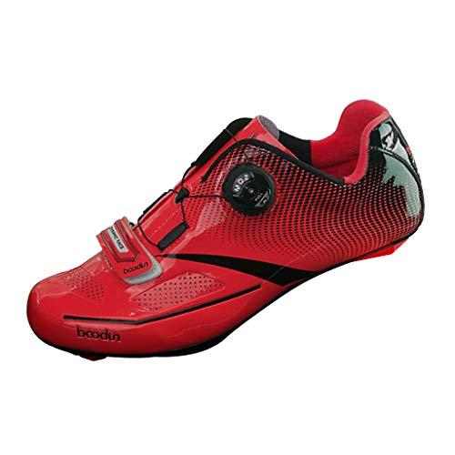 F Fityle Scarpe da Running, Scarpe da Ciclismo su Strada Professionali - Rosso 44