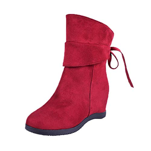 Botines cuña para Mujer Otoño Invierno 2018 Moda PAOLIAN Botas de Terciopelo Plataforma Militares Botines tacón Altas Casual Zapatos de Señora Calzado Dama Botas clásicas Tallas Grandes