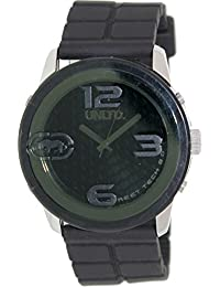 Marc Ecko Unisex Quartz Watch with Black Dial Analogue Display and Black Silicone Strap E12533G1
