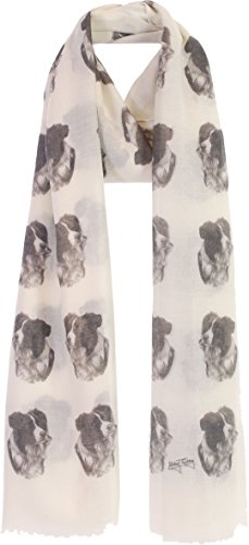 Border Collie gifts for women ladies scarf with dogs on - Exclusive Mike Sibley Fashion Scarf Signature Collection - Perfect Gift for Any Dog Lover - Hand Printed in the UK