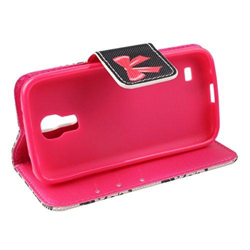 Coque pour Samsung Galaxy S4 Mini, ISAKEN Élégant Style PU Cuir Flip Magnétique Portefeuille Etui Housse de Protection Coque Étui Case Cover avec Stand Support pour Samsung Galaxy S4 Mini I9190 I9195  #14