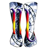 "uytrgh Outdoor Sports Men Women High Socks Stocking Astrological Sign Scorpio Tile Length 19.7""(50cm) Colorful 6990 -"