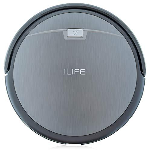 Saugroboter ILIFE A4s automatischer Staubsauger Roboter | Borstenbürste für kurzflorigen Teppich | leiser Betrieb über 2 Stunden staubsaugen | Fallschutz | Beutellos | Staubtank 450ml | Ladestation