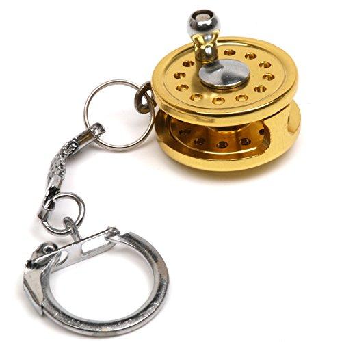 Neu Tragbar Fliegenfischen Rute Rolle Miniatur Neuheit Fischen Geschenk, Schlüsselanhänger