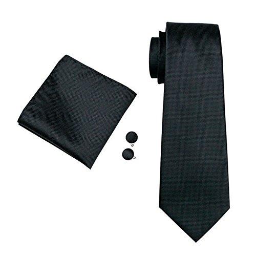 mens-formal-paisley-striped-floral-100-silk-woven-neck-tie-pocket-square-hanky-cufflink-set-plain-bl