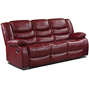 Belfast Cranberry Red Reclining Sofas (All Combinations Available) (3  Seater Sofa)