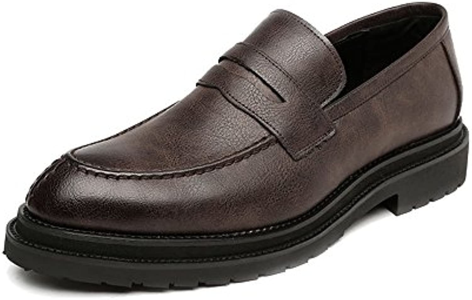 FeiNianJSh Scarpe Casual Uomo Slip-on da Uomo Scarpe da Lavoro Smooth glassato PU Leather Upper Mocassini Outsole... | Materiale preferito