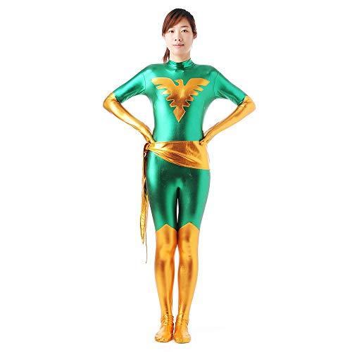 Cosplay X Krieg Phoenix Weiblichen Kostüm Cosplay Kleidung Weihnachten Halloween Kostüm Für Erwachsene/Kind Tragen Green-XXL (Phoenix Kostüm Männlich)