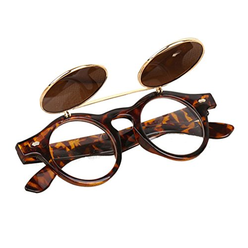 Unisex Sonnenbrille , Loveso 2017 Vintage Steampunk Gothic Runde UV400 Brille Retro Sonnenbrille (A)