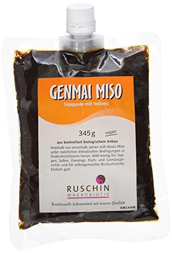 Ruschin Bio Genmai Miso, Vollreis im Verschlußbeutel, 1er Pack (1 x 345 g)