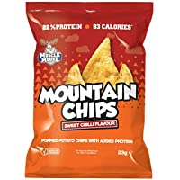 Muscle Mousse Sweet Chilli Mountain Chips, 23 g, Pack of 10