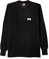 Rupa Thermocot Womens Plain / Solid Synthetic Thermal Top (VOLCANO_Black_90)