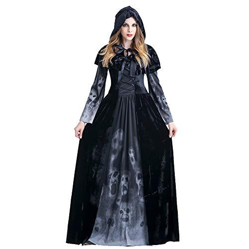 NFY Teufels Hexe Kleid Halloween Damen Jumpsuit Kostüm Geeignet Kleiderparty Fasching Karneval,XL