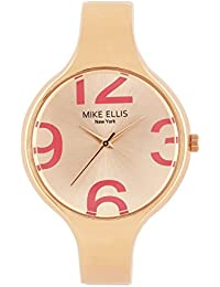 Mike Ellis New York Damen-Armbanduhr Streamline Analog Quarz Kunstleder SL3181M