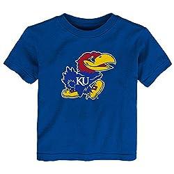 NCAA Kansas Jayhawks Primary Logo RP Short Sleeve Tee, 2 Tall, Collegiate Royal