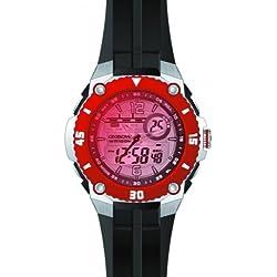 Oxbow 4546001-Men's Watch Digital Quartz Red Plastic Strap Black Dial