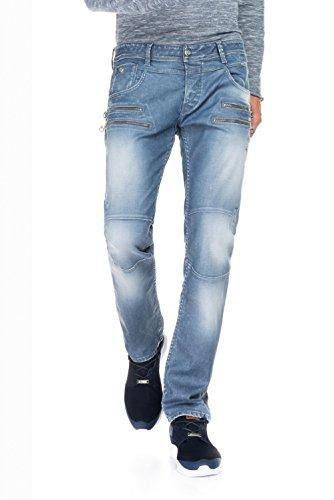 Salsa - Jeans, 1st Level, mit Doppel-Zippern vorne - Herren Blau
