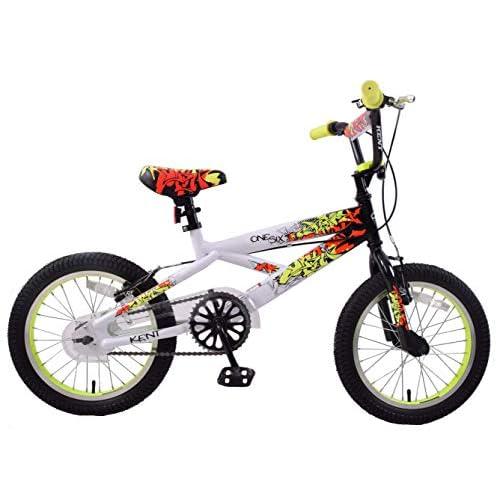 """41P7p4TiQCL. SS500  - Kent One Six Graffiti 16"""" Wheel BMX Boys Kids Bike Black/White/Yellow Bicycle Age 5+"""