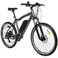 "Moma Bikes Vélo VTT Electrique VAE, E-MTB 26"", Aluminium, Shimano 24V, Freins a Disque, Suspension Avant, Bat. ION Lithium 36V 16Ah"