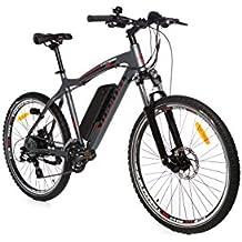 Moma Bikes Bicicleta Electrica, Montaña EMTB-26, ALU. Shimano 24V, Doble