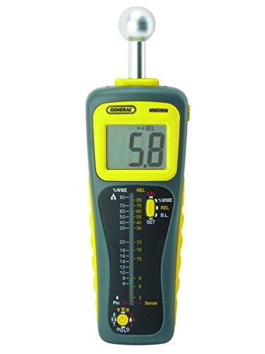 General Tools Moisture Meter, Pin Type oder Pinless, Deep Sensing mit Sensor und Fernbedienung (MMD950) -
