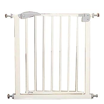 Hyzb Barrière De Sécurité Porte Porte Chien Garde-Corps Rampe D'escalier Clôture pour Isolement en Métal pour Chien Chat Chat en Métal - Longueur 65-72cm, Hauteur 76cm (Couleur : Gray)