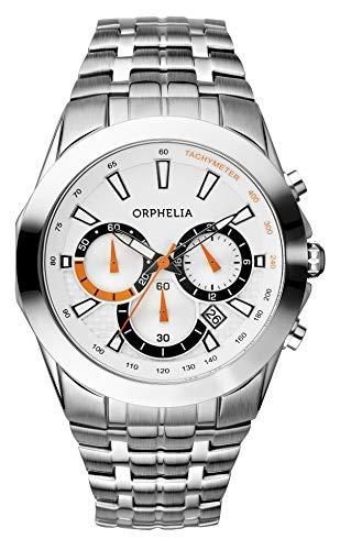Orphelia Herren-Armbanduhr Drive Chronograph Quarz Edelstahl