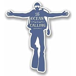 2x 10cm Scuba Diver Sticker en vinyle pour ordinateur portable Fun Club de Plongée PADI Dive # 9667 - 9cm Wide x 10cm Tall