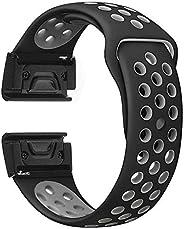 Liloee Silicone Watch Band WristStrap For Garmin Fenix 5X/5X Plus Fenix 3/3HR Watch, Wearable Technology, Elec