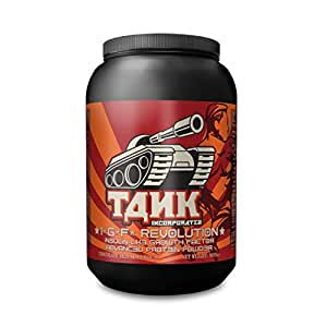 TANK Inc. IGF Revolution ADVANCED PROTEIN POWDER 907g ★ Chocolate Deluxe Flavour ★ 💪Insulin-like Growth Factor (IGF) ★ A massive 36g of protein per serving with 2.5g fat and 8g carbs for energy and post-workout recovery ★ Rich in isoflavones