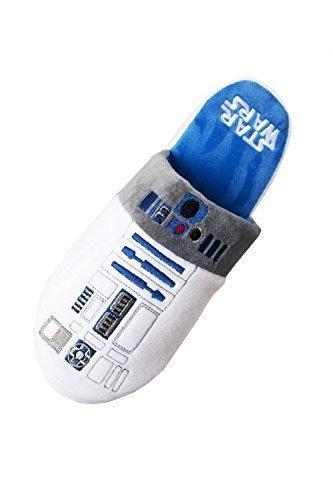 Ufficiale Disney Star Wars Nuovo Da Uomo R2D2 Droidi Sabot suola antiscivolo Pantofole - Bianco, UK 5-7 - EU 38-41 - US 6-8