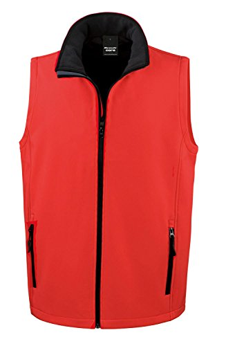 Result Core Mens Softshell Bodywarmer - 7 Colours / Sml-3XL Red / Black