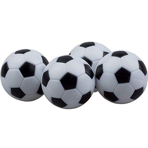KANKOO Mini Ball Fußball Tischfußball Offiziellen Tischfußball Fußball Ersatz Kunststoffkugeln 32mm 12Pack Schwarz und Weiß Tabletop Spielbälle für sportliche Aktivitäten -