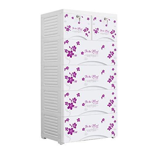 MWPO 5 Lagen mehrlagiger Kunststoff Kleiderschrank Schubladenausführung Babygarderobe Kinderschränke Abschlussschrank hochfest (Farbe: C)