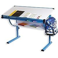 IDIMEX Höhenverstellbarer Kinderschreibtisch, Metall, blau, 113,5 x 60 x 72 cm preisvergleich bei kinderzimmerdekopreise.eu