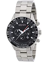 Nautec No Limit Herren-Armbanduhr XL Racing 2 Chronograph Quarz Edelstahl RS2 QZ2/STSTSTBK