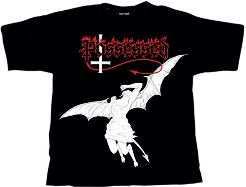 Possessed Fallen Angel T-Shirt, M / Medium (o314) (Angel Fallen T-shirt)