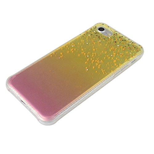 iPhone 7 Hülle Glitter, iPhone 7 Tasche Glitzer, iPhone 7 Glitzer Case, Moon mood® Kristall Sparkle Schutzhülle für Apple iPhone 7 4.7 Zoll Thin Dünn Weich TPU + Ultra-dünne Acryl Schutzhülle Schutz E Y Stil 10