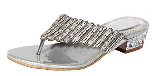 honeystore-womens-layered-rhinestone-sheepskin-flat-heel-sandals-silver-65-uk