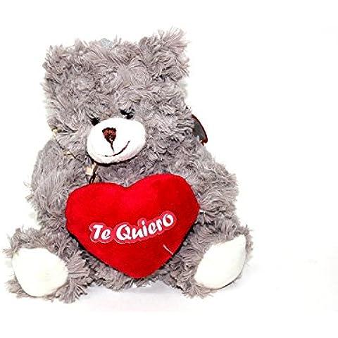 Peluche oso corazón.