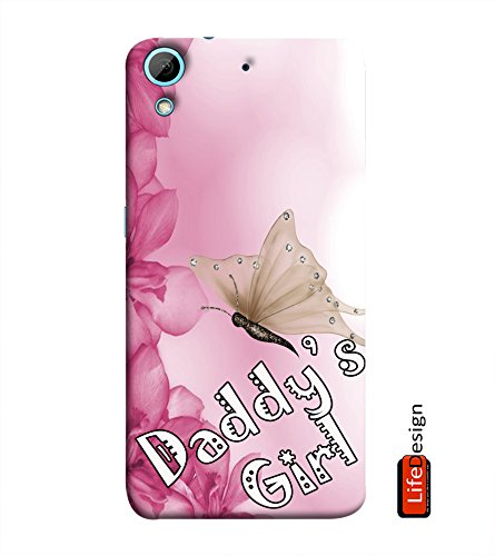 LifeDesign Specially Designed Designer Back Case and Cover for HTC Desire 728 (Pinkish- Daddy's Girl)