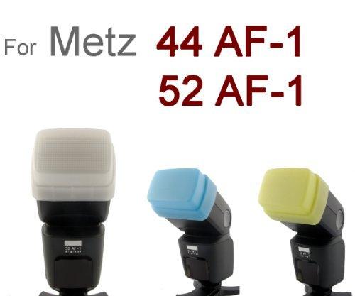 3 Farben Bouncer/ Diffusorset 100{373510070d732ff16f301260a2d8c63bc10a09543eb9b21278d5bf1bd4622699} passgenau für Metz 44 AF-1 und Metz 52 AF-1
