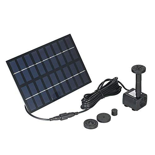 Anself 1.8Watt Solar Power Water...