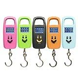 Kongqiabona Portable Mini 50Kg / 10g Display LCD Bilance elettroniche con gancio per la pesatura dei bagagli Bilancia a sospensione
