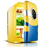Mini-Kühlschränke 22L Auto Mini Kühlschrank, kleine Heimat einzelne Tür Kälte Miniatur Student Schlafsaal zwei Menschen Welt (Farbe : Gelb)
