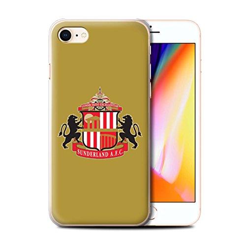 Offiziell Sunderland AFC Hülle / Case für Apple iPhone 8 / Rot/Weiß Muster / SAFC Fußball Crest Kollektion Gold