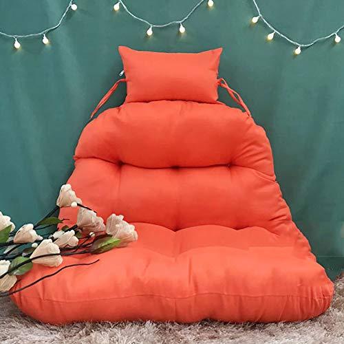 SXFYHXY Hanging Egg Swing Chair Kissen, abnehmbar und waschbar für Indoor Outdoor Single Patio Backyard Komfortable Relaxing Cushion,Orange,100x85cm