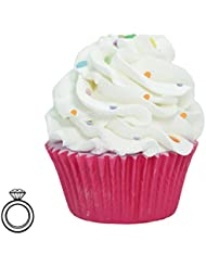 """JewelBath, Boule de bain et Gommage Corps Cupcake """"Happy Birthday"""" avec un bijou surprise en argent (Bague) d'une valeur allant jusqu'à 250 €."""